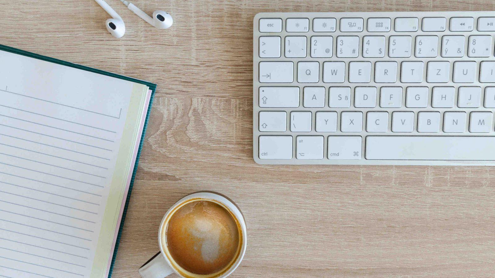 Freelance translator's desk